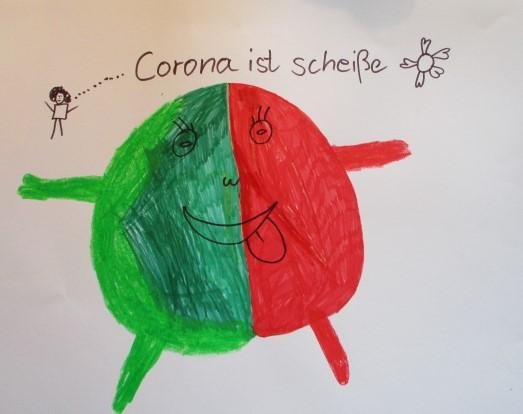 Kinder malen Corona
